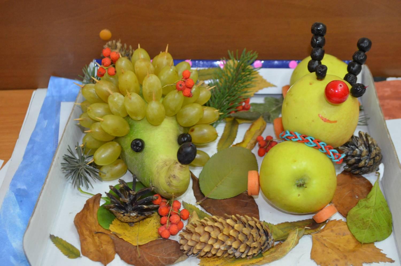 Фото поделок из фруктов и овощей осень 47